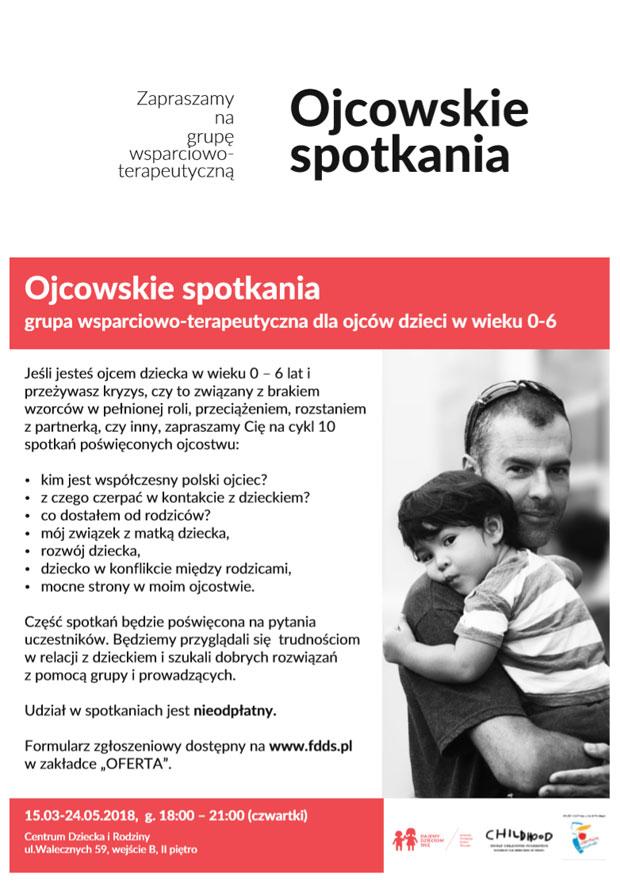 plakaty informacyjne o spotkaniach dla rodziców